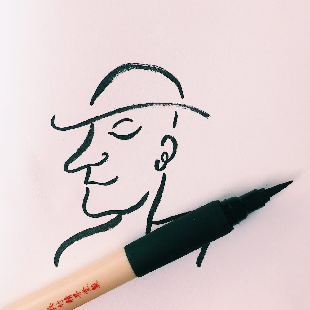 Kuretake Bimoji Fude Brush Pen (Medium bristle tip)