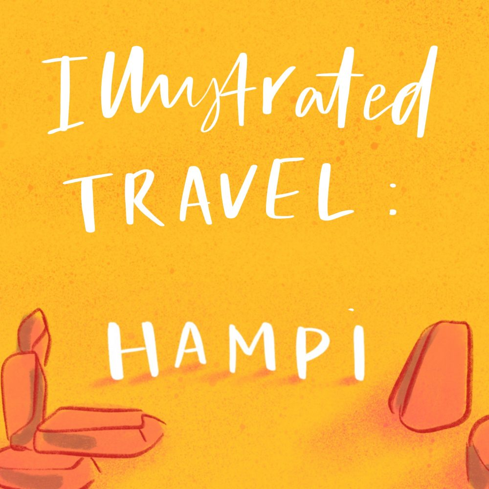 illustrated travel guide to Hampi by Jasmine Hortop