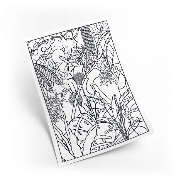 Jungle Night Colouring Sheet by Jasmine Hortop